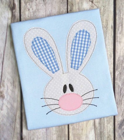 Rabbit Boy Bean Stitch Applique Design