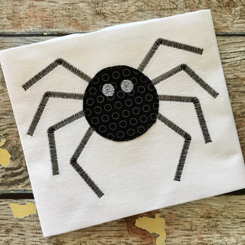 Spider Bean Stitch Applique Design - Hug A Bug Applique Designs