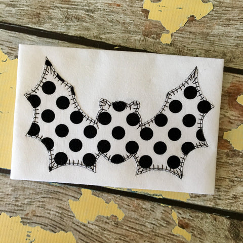 Bat Blanket Stitch Applique Design - Hug A Bug Applique Designs