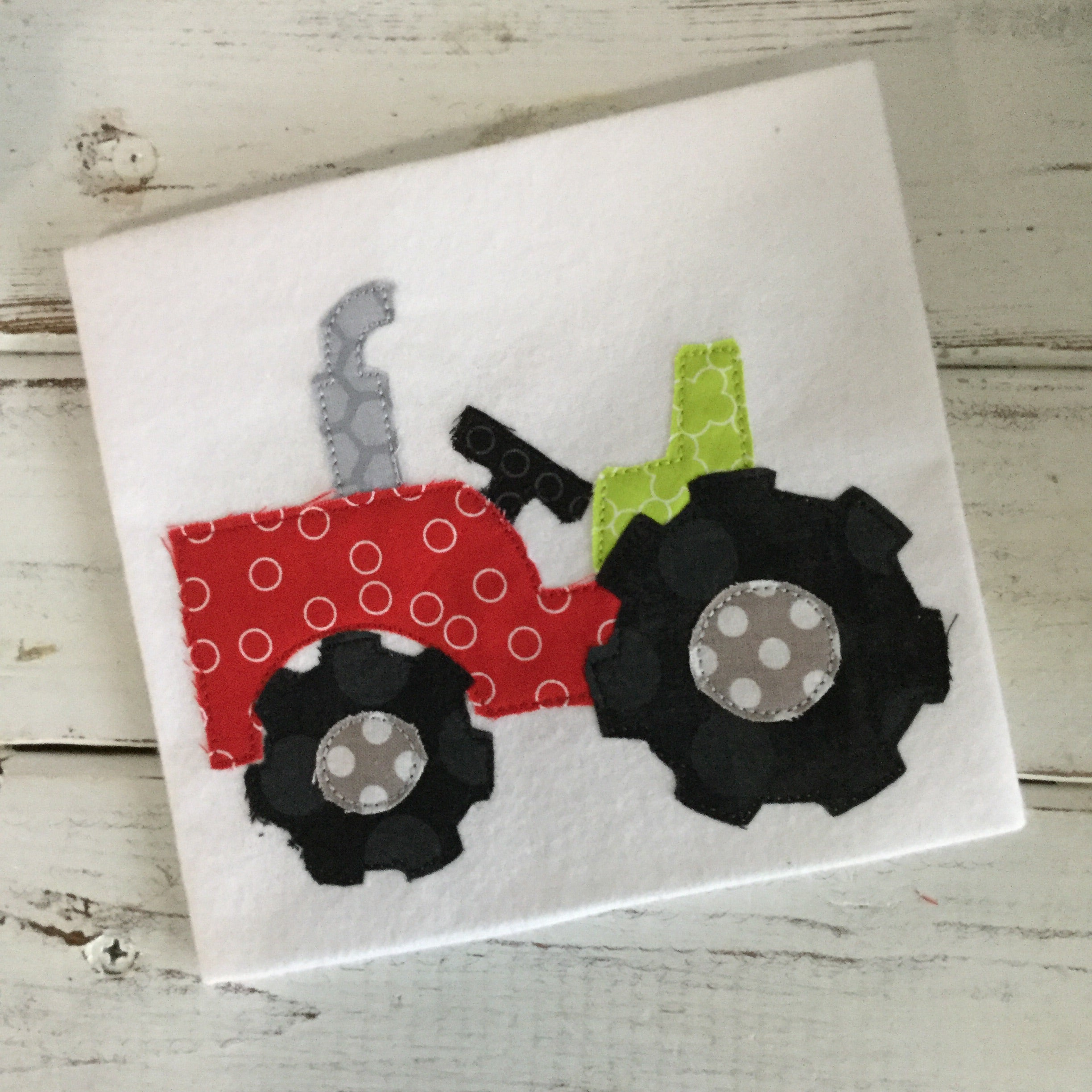 Tractor Bean Stitch Applique Design - Hug A Bug Applique Designs