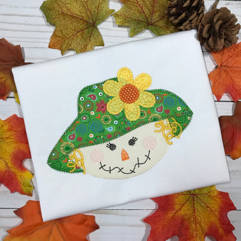 Scarecrow Girl Zig Zag Stitch Applique Design - Hug A Bug Applique Designs