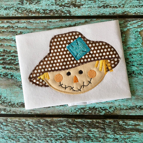 Scarecrow Zig Zag Stitch Applique Design - Hug A Bug Applique Designs
