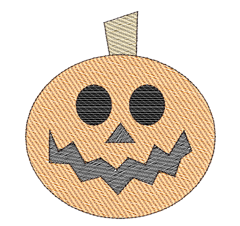 Jackolantern Sketch Embroidery Design