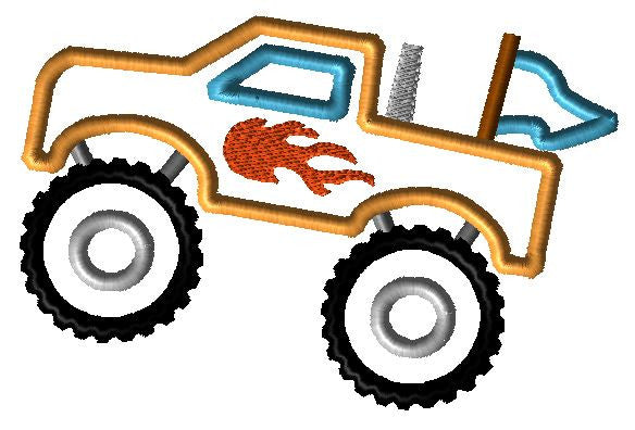 Monster Truck Applique Design - Hug A Bug Applique Designs