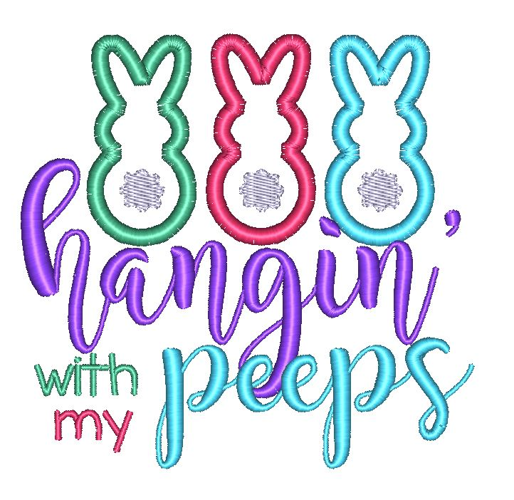 Hangin' With My Peeps - Hug A Bug Applique Designs