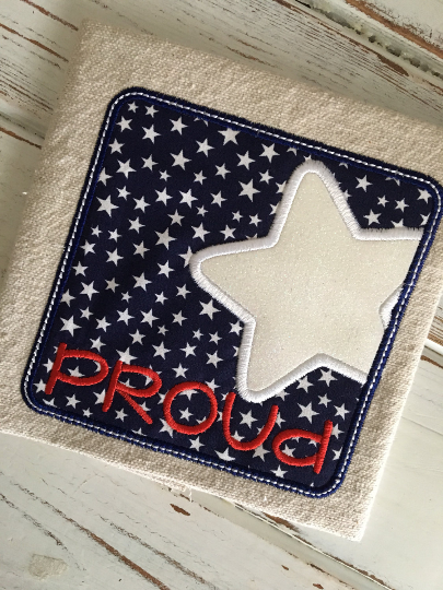 Proud Star Box Applique Design - Hug A Bug Applique Designs