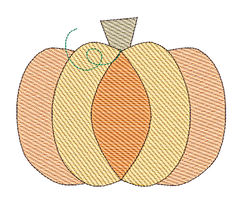 Pumpkin Sketch Embroidery Design