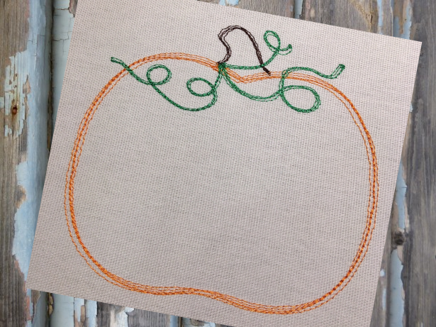 Pumpkin sketch embroidery design u2013 hug a bug applique
