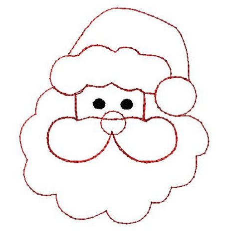 Santa Bean Stitch Applique Design