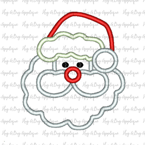 Santa Satin Stitch Applique Design