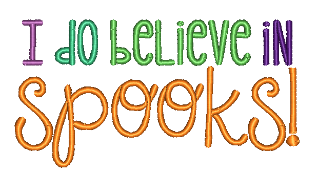I Do Believe In Spooks Embroidery Design - Hug A Bug Applique Designs