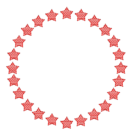 Star Circle Frame Embroidery Design
