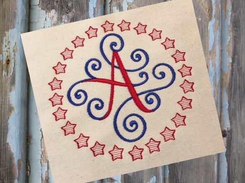 Star Circle Frame Embroidery Design - Hug A Bug Applique Designs