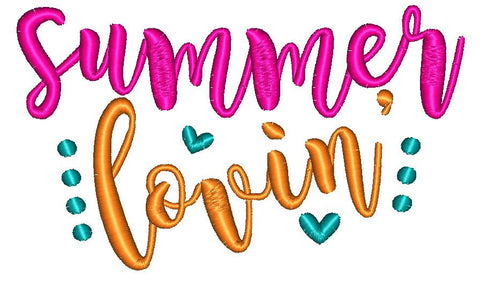 Summer Lovin' Embroidery Design