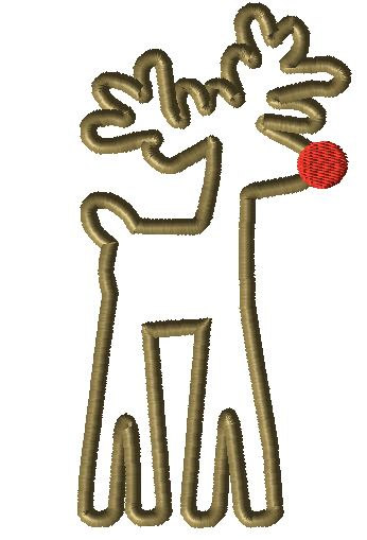 Tall Reindeer Applique Design - Hug A Bug Applique Designs