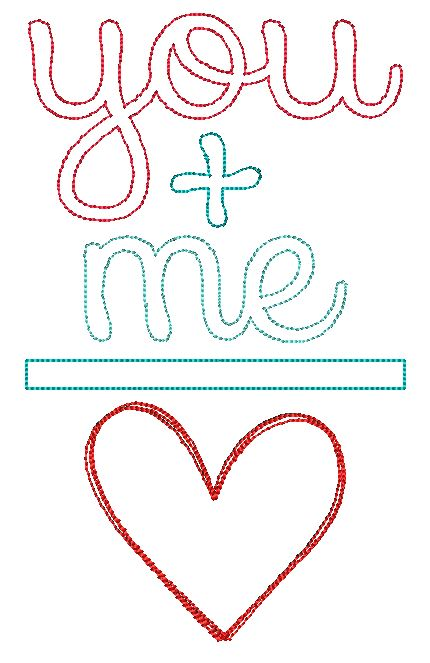 You Plus Me Applique Design - Hug A Bug Applique Designs