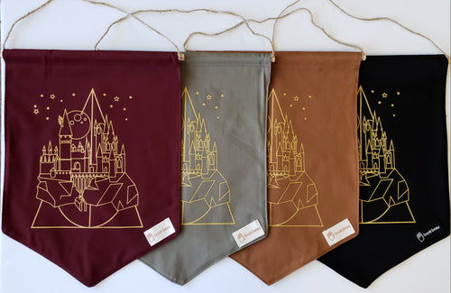 Hogwarts Canvas Banner