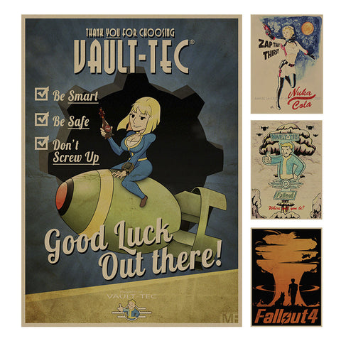 Fallout Series Poster Retro decoration