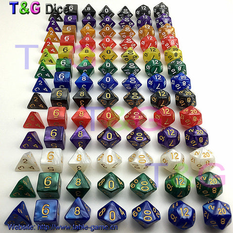 7Pcs/Set Resin Polyhedral Dice
