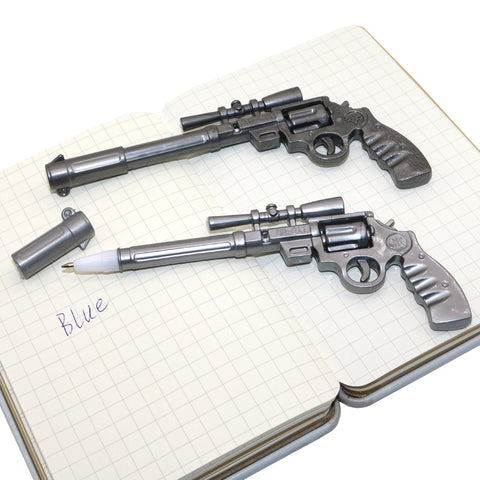 2 Pcs  Gun Ballpoint Pen Novelty