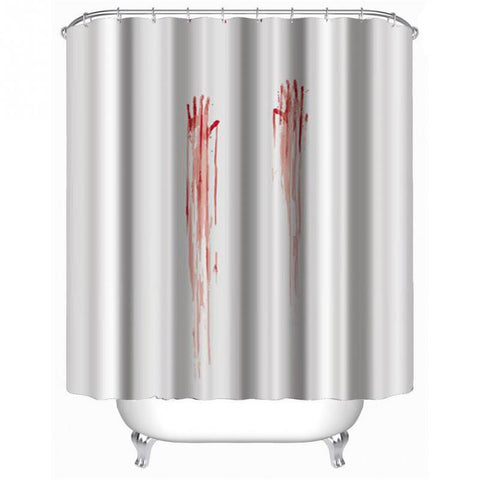 Blood Handprint Shower Psycho Movie Curtain