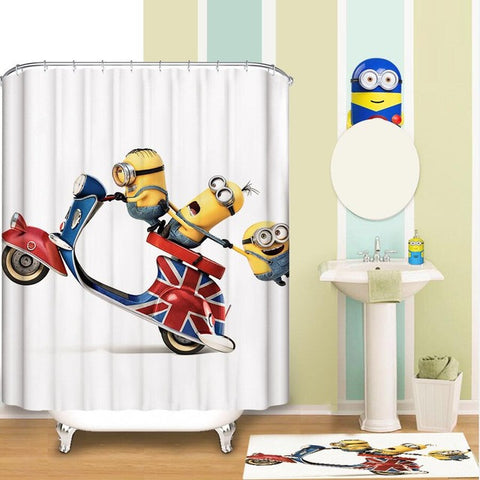 Minions Shower Curtain Waterproof