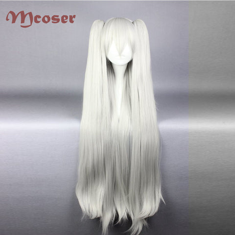 Long White Ponytails full Wig