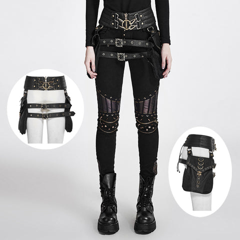 Black Leather Belt bags and straps
