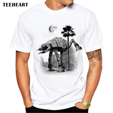 AT-AT Pee T Shirt Men Short Sleeve
