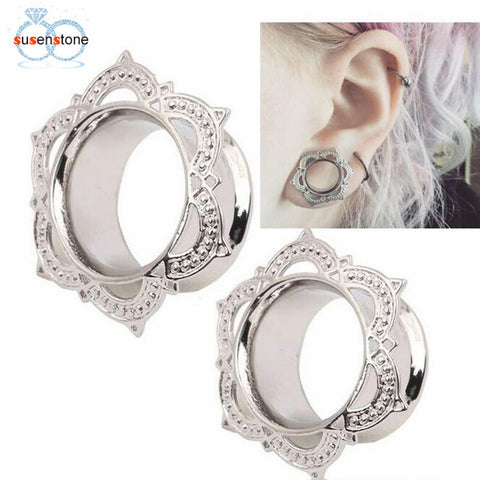 "Fancy Silver Stud Earring ""Stretch"""