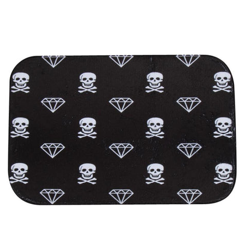 Skulls and Diamonds Shower Mat