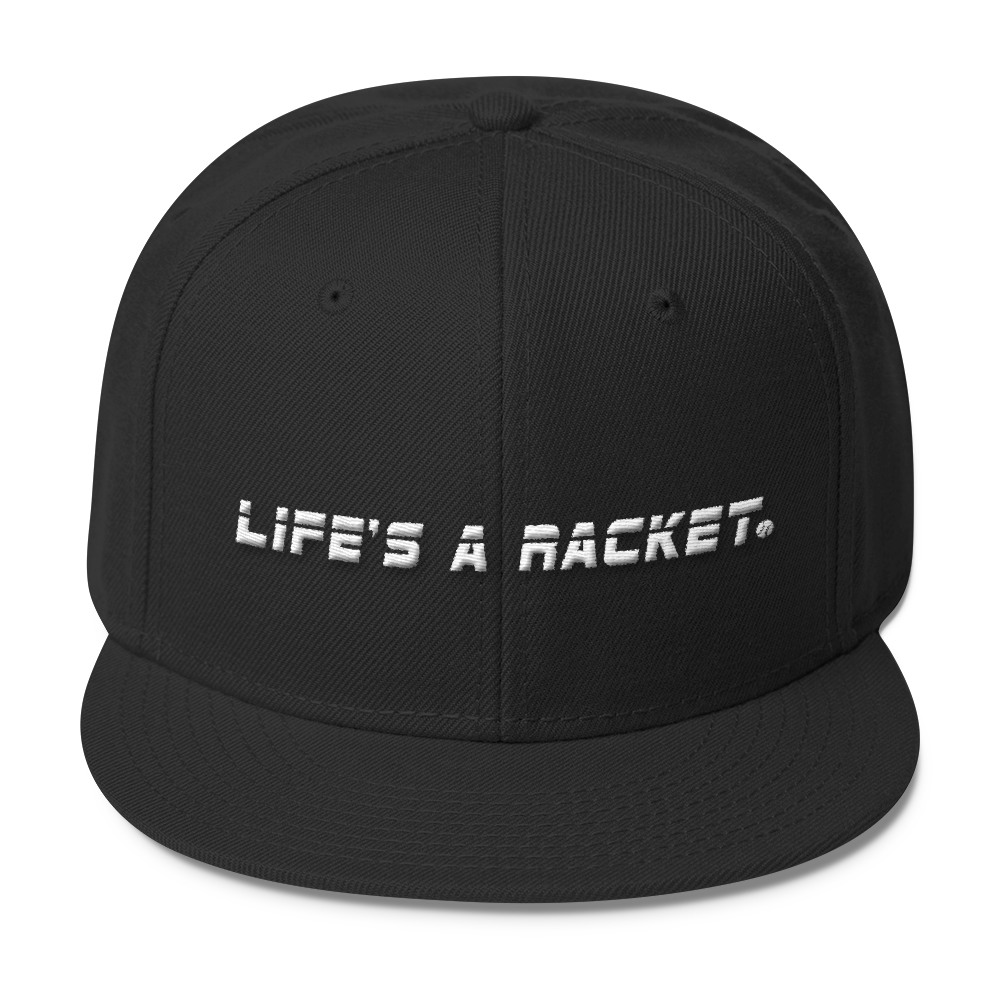Life's A Racket Cap, Black
