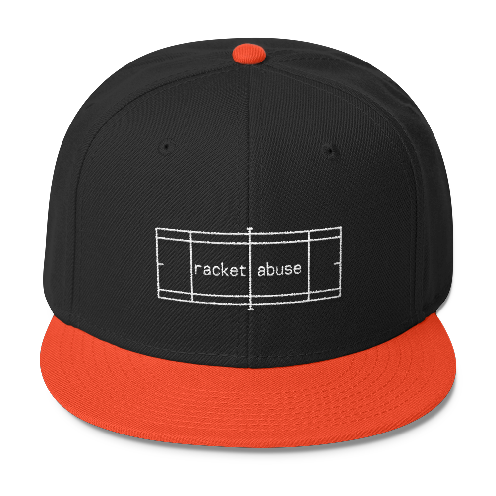 Racket Abuse Cap, Black/Orange