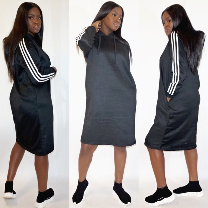 3 Stripe Oversized Dress
