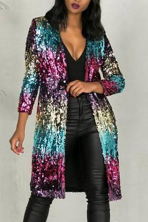 Multi colored Sequin Jacket