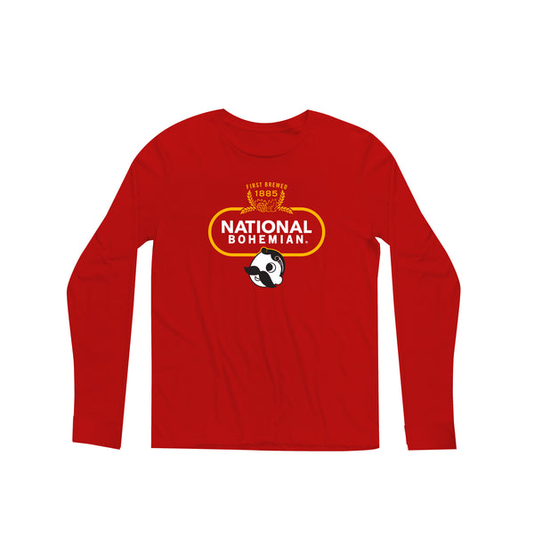 Crest Long Sleeve Tee - Red
