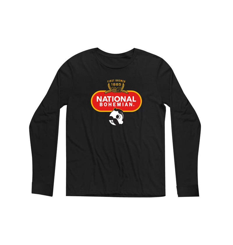 Crest Long Sleeve Tee - Black