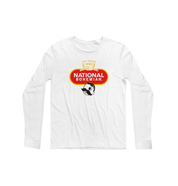 Crest Long Sleeve Tee - White