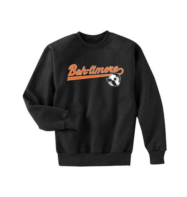 BOH-TIMORE CREWNECK SWEATER - BLACK