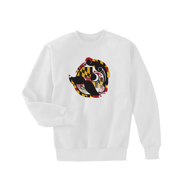 FLAG CREWNECK SWEATER - WHITE