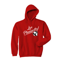 Live Pleasantly Hoodie - Red