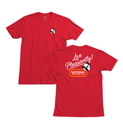 Live Pleasantly Tee - Red