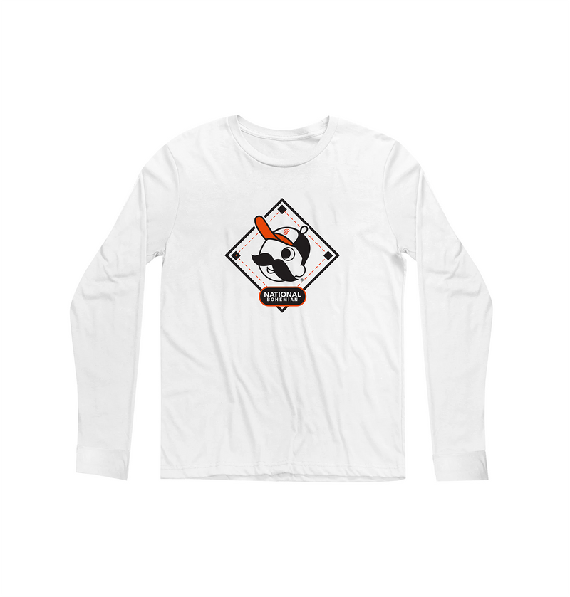 Diamond Long Sleeve - White