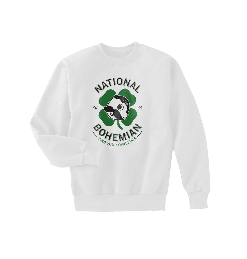 FIND YOUR OWN LUCK CREWNECK - WHITE