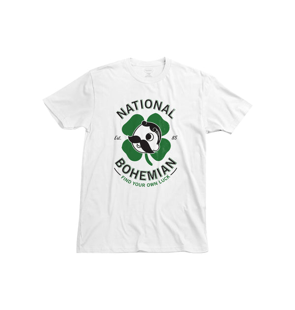 FIND YOUR OWN LUCK TEE - WHITE