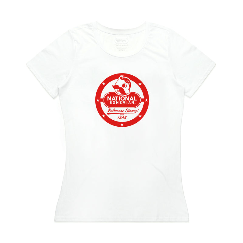 WOMEN'S BALTIMORE STRONG TEE - WHITE