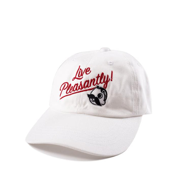 Live Pleasantly Dad Hat - White