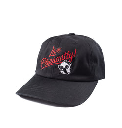 Live Pleasantly Dad Hat - Black