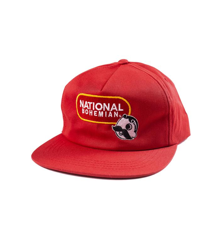 National Bohemian Lock Up Snapback - Red