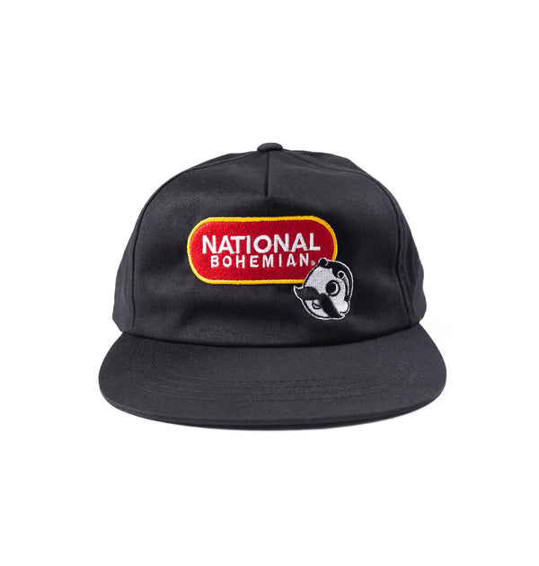 National Bohemian Lock Up Snapback - Black
